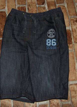 шорты мальчику бермуды джинсовые 11 - 12 лет