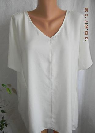 Кремовая блуза свободного кроя большого размера