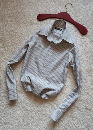 Рубашка в полоску мужская dolce & gabbana размер s slim италия...