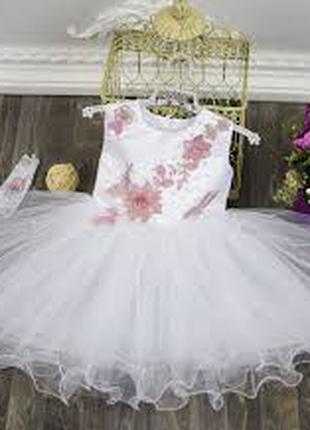 """Платье """"весна"""" плюс перчатки 3-5 ЛЕТ"""