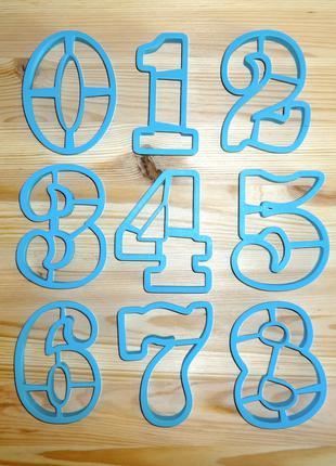 Вырубки, формочки для пряников набор - цифры