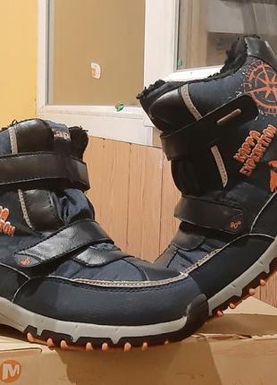 Продам зимние детские ботинки на мальчика 34р kappa