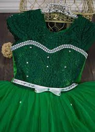 Нарядное платье плюс перчатки (4 цвета)4-7 лет