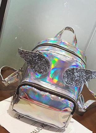 Голограммный рюкзак с крыльями -3 цвета