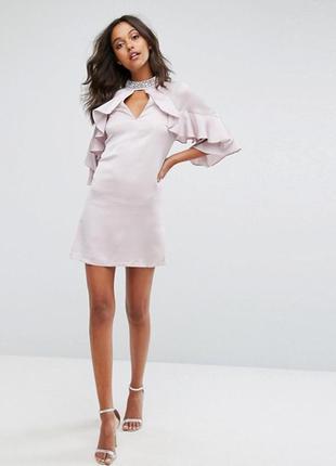 Шикарное сатиновое платье  бренда lipsy (2239)