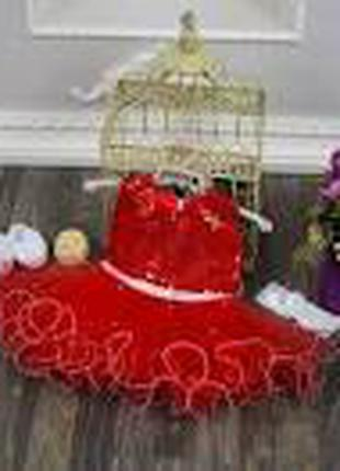 Модное нарядное платье плюс повязка на голову 1-2 года