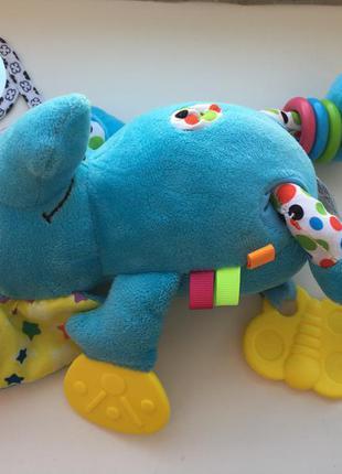 Слон-подвеска-прорезыватель-шуршалка biba toys состояние нового