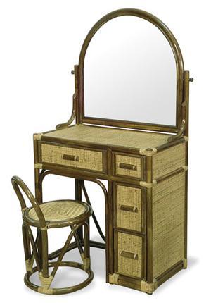 Столик туалетный с зеркалом из натурального ротанга Calamus Rotan