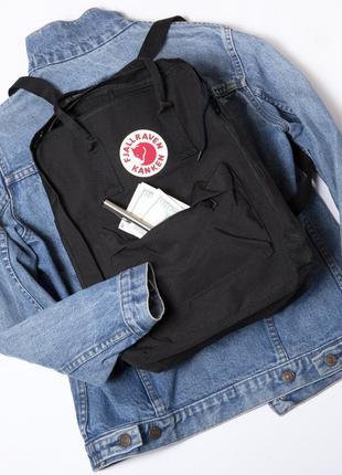 Рюкзак fjallraven kanken classic.купить чёрный молодёжный ране...