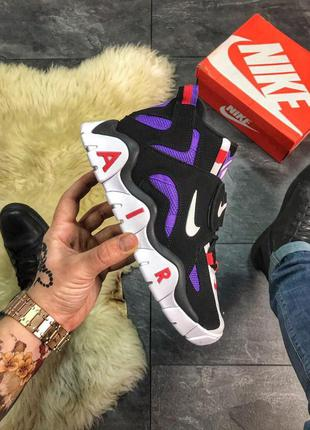 Кроссовки nike air max barrage violet black new недорого