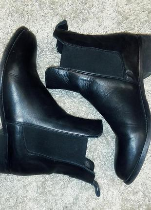 Кожаные осенние ботинки челси kiomi 39,5 - 40 размер.