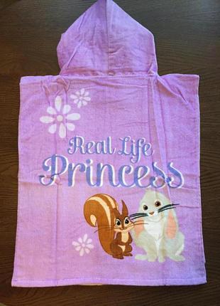 Пляжное полотенце-пончо disney принцесса софия для девочки 2-6...