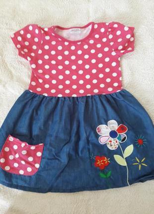 Хлопковое платье 3-4 года