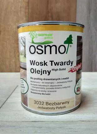 Олія з воском для дерева OSMO Hard Wax Oil 3032 0.75л
