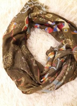 Кашемировый палантин шарф авторский проэкт очень редкосный