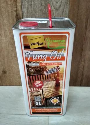 Олія тунгового дерева HartzLack Tung Oil 5л для зовнішніх робіт