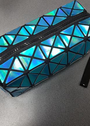 Косметичка-клатч geometry blue
