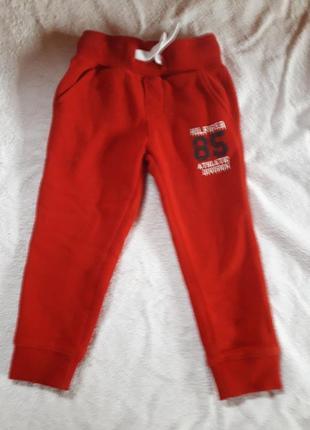 Суперовые мега теплые спортивные штаны 3т tommy hilfiger сша