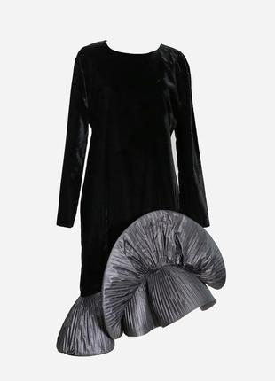 Винтажное бархатное платье р.м pierre cardin оригинал эксклюзи...