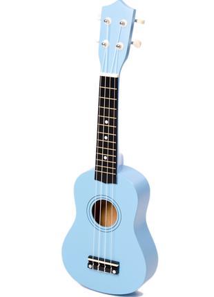 Укулеле IRIN BLUE + Струны + Медиаторы - Гавайская гитара