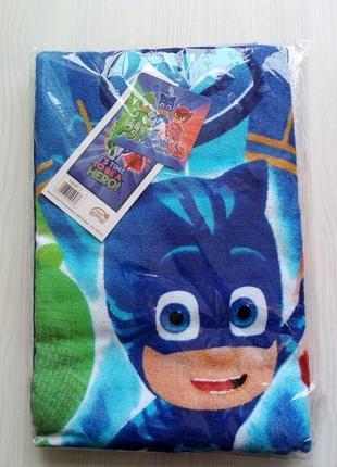 Детское пляжное полотенце герои в масках, 100% хлопок 70х140 см