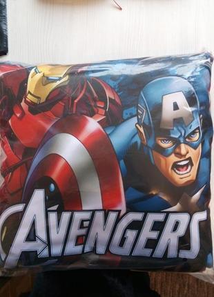 Декоративная подушка для детской супергерои марвел 40х40 - под...