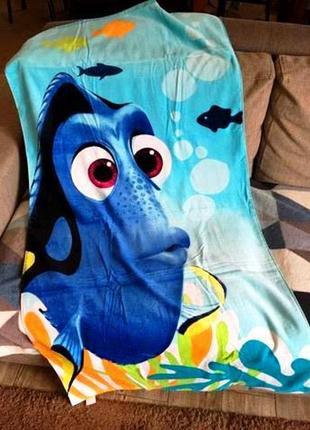 Большое пляжное полотенце disney рыбка дори детское, 100 хлопо...