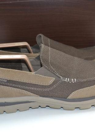 Skechers 43 р туфли ботинки кожаные. мокасины эспадрильи