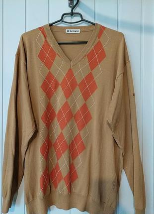 Тоненький пуловер очень большого размера  burlington
