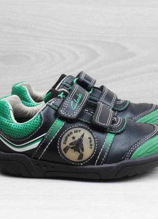 Кожаные детские кроссовки clarks оригинал, размер 25.5