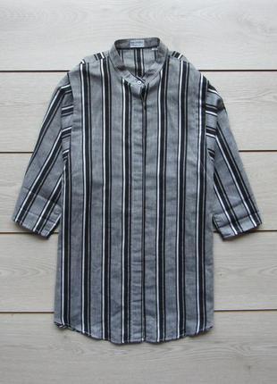 Рубашка блуза в полоску 50/50 лен/хлопок от redford