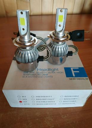 Комплект LED ламп HeadLight Н4 & H7 12v COB