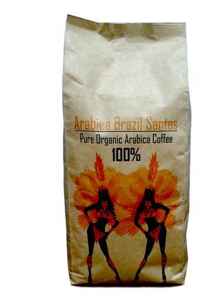 Бразилия Арабика Сантос кофе в зернах