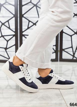 ❤ женские синие замшевые кроссовки ❤