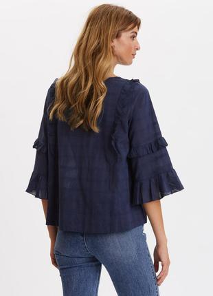 Красивая,синяя свободная блузка,one two (s,m)