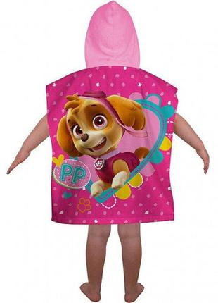 Пляжное полотенце пончо с капюшоном щенячий патруль скай, для ...