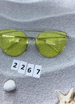 Стильные очки с желтыми линзами к. 2267