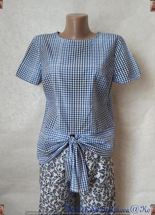 Фирменная tu блуза со 100 % хлопка в сине-белую мелкую клетку ...