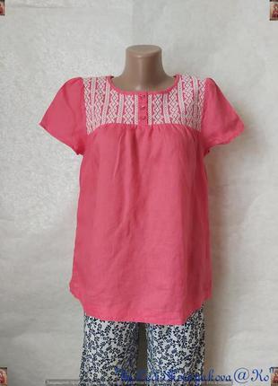 Фирменная marks & spencer блуза со 100 % льна в сочном розовом...