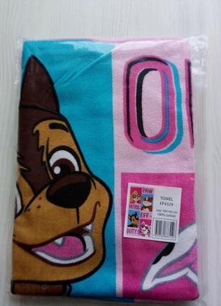 Детское пляжное полотенце щенячий патруль скай, 70х140 см