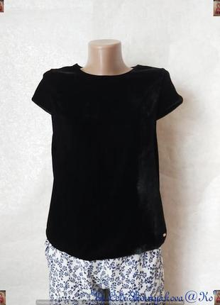 Фирменная marks & spencer нарядная бархатная блуза в сочном чё...