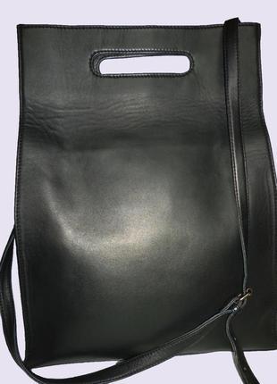 Шикарная большая сумка из натуральной кожи yaya
