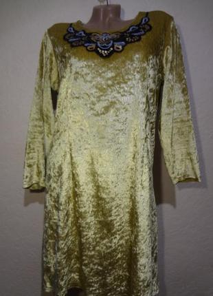 Бархатное платье/туника размер м