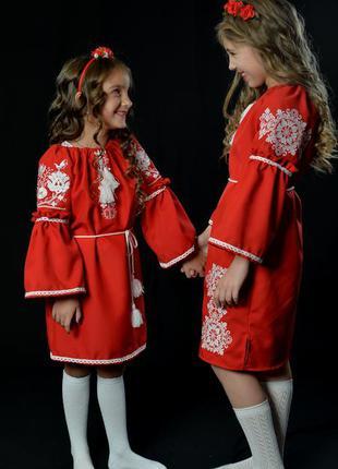 Вишиванка вышиванка платье с вышивкой для девочки 6-7 лет