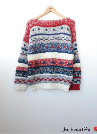 Эксклюзивный свитер оригинальный свитер оверсайз l xl