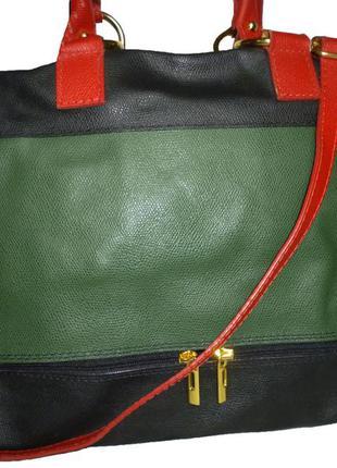 Стильная большая сумка  из натуральной кожи borse in pelle италия