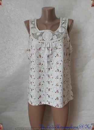 Фирменная per una блуза со 100 % хлопка с прошвы и кружевной в...