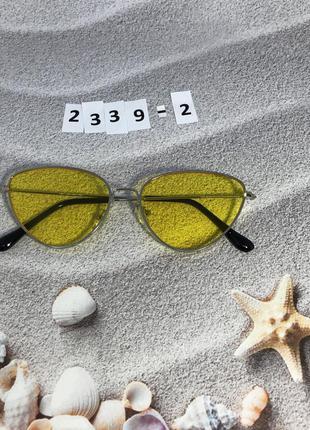 Желтые очки в серой оправе к. 2339-2
