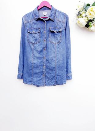 Джинсовая рубашка стильная рубашка джинс