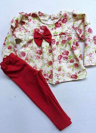 Детский костюм для девочки на весну.